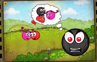Игра про красный шарик играть онлайн
