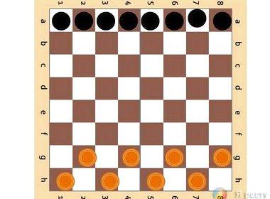 Игра в уголки на шахматной доске онлайн