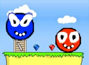 Играть онлайн синий шарик