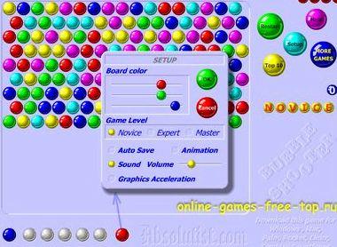 Игры шарики онлайн играть бесплатно на русском