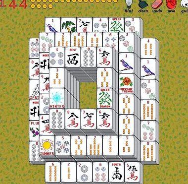 Карточный пасьянс маджонг
