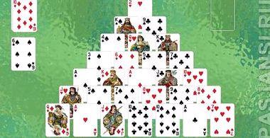 Пасьянс пирамида правила игры