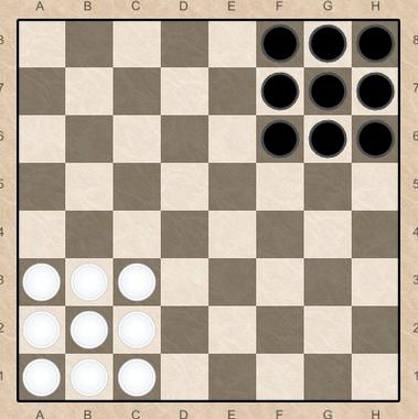 Правила игры в уголки шашки