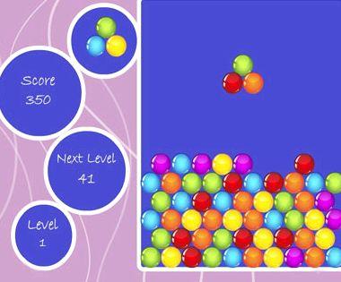 Тетрис шарики глобит онлайн играть бесплатно следующий шар, стрелка внизу будет