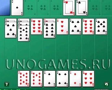 Алжирский пасьянс играть онлайн бесплатно
