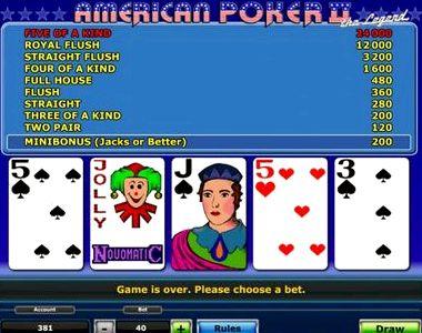 Американский покер 2 играть бесплатно без регистрации