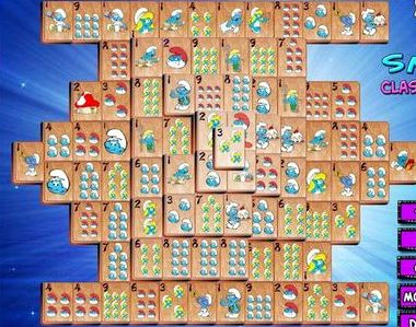 Бесплатные игры маджонг соедини пары смурфики