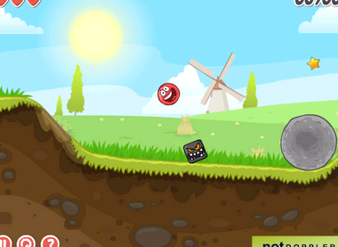 Флеш игра про красный шарик