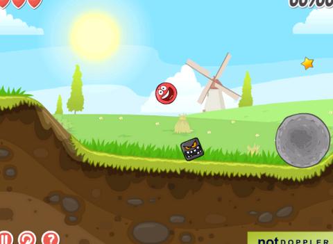 Флеш игра про красный шарик где надо
