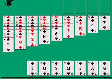 Игра косынка пасьянс 2 масти