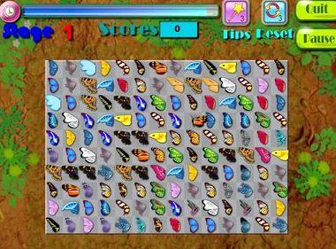 Игра сады маджонга бабочки во весь экран