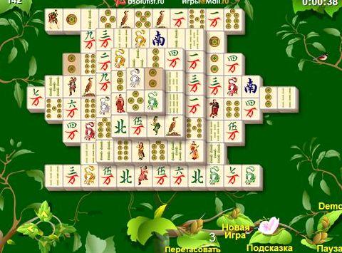 Игра сады маджонга играть бесплатно пением птиц, которое настраивает на