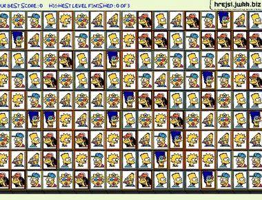Играть маджонг симпсоны