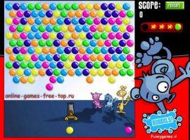Играть в разноцветные шарики стрелялки