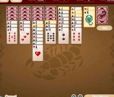 Игры онлайн бесплатно пасьянсы скорпион