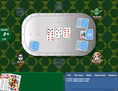 Карточная игра дурак переводной онлайн