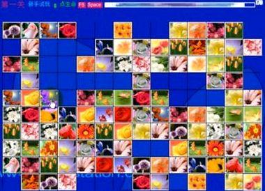 Маджонг цветы играть во весь экран