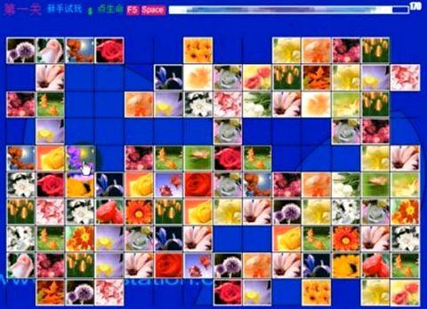 Маджонг цветы играть во весь экран радужных весенних тонах, поют птицы