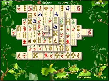 Маджонг сады играть онлайн