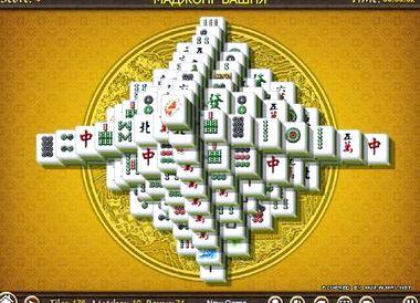 Онлайн игры маджонг башня
