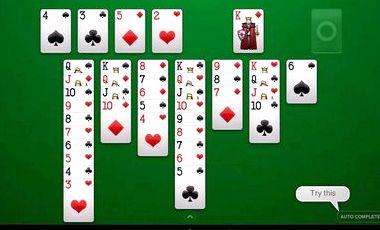 тройная косынка по три карты играть бесплатно онлайн