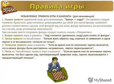 Правила игры в шахматы в картинках
