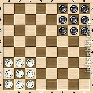 Шашки уголки играть провести свои шашки на место